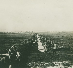 Greece ? WWI Troops Working in Field old SIP Photo 1914-1918