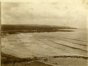 North Yorkshire Scarborough Sea Waves Beach Holidays old Amateur Photo 1900