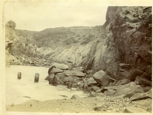 North Yorkshire Scarborough Seaside Coast Rocks old Amateur Photo 1900
