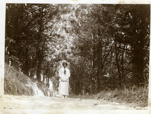 North Yorkshire near Scarborough Forest Walk Holidays old Amateur Photo 1900