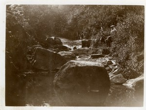 North Yorkshire near Scarborough Painter Artist Stream old Amateur Photo 1900