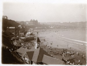 North Yorkshire Scarborough Beach Seaside Holidays old Amateur Photo 1900