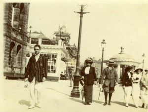 North Yorkshire Scarborough Animated Boardwalk Holidays old Amateur Photo 1900