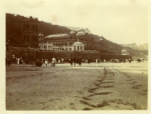 North Yorkshire Scarborough Sand Beach Seaside Holidays old Amateur Photo 1900