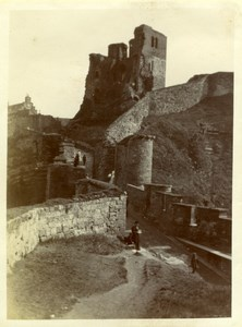North Yorkshire Scarborough Castle Ruins Holidays old Amateur Photo 1900