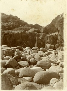 North Yorkshire Scarborough Seaside Rocks Holidays old Amateur Photo 1900