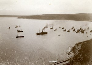 North Yorkshire Scarborough Seaside Steam Trawlers Boats old Amateur Photo 1900