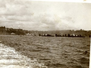 North Yorkshire Scarborough Panorama Boats Seaside old Amateur Photo 1900