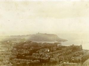 North Yorkshire Scarborough Coast Castle Panorama Seaside old Amateur Photo 1900