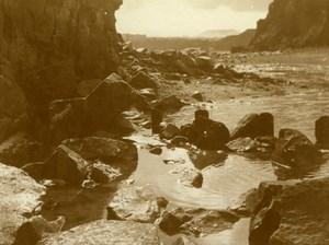 North Yorkshire Scarborough Coast Rocks Seaside Holidays old Amateur Photo 1900