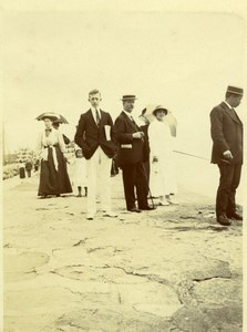 North Yorkshire Scarborough Boardwalk Group Holidays old Amateur Photo 1900