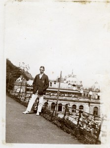 North Yorkshire Scarborough Young Man Holidays old Amateur Photo 1900