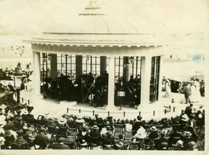 North Yorkshire Scarborough Beach Bandstand Kiosk Seaside old Amateur Photo 1900