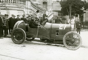 Sarthe Grand Prix Jules Goux Peugeot Automobile Racing old Branger Photo 1912