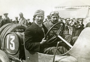 Dieppe Grand Prix Jules Goux Peugeot Automobile Racing old Branger Photo 1912
