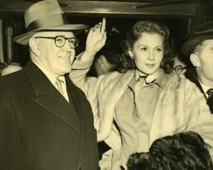 Actress Rhonda Fleming Songwriter Jimmy McHugh London Old Press Photo 1951