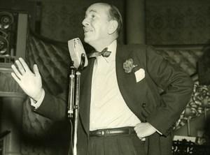 Noel Coward London Café de Paris Cabaret Act Rehearsal old Press Photo 1951