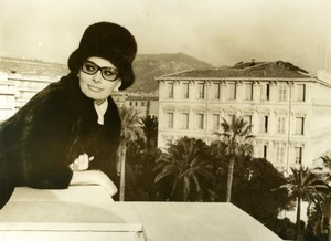 Actress Sophia Loren at her Hotel Balcony in Nice France Old Press Photo 1965