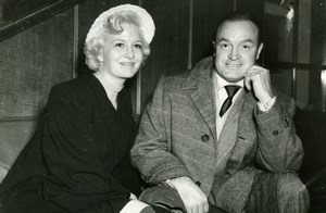 Actors Bob Hope Marilyn Maxwell on board the Queen Mary Old Press Photo 1951