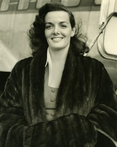 Actress Jane Russell arriving at London Airport Old Press Photo 1951