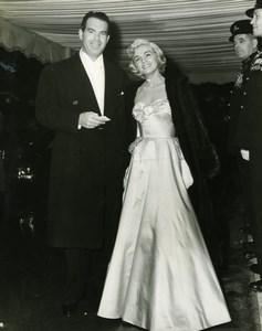 Lizabeth Scott, Fred MacMurray Leicester Square Odeon London Press Photo 1951