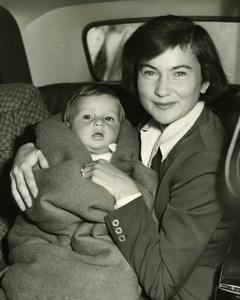 Natalie Robert Newton's Wife and Son Nicholas Old Press Photo 1951