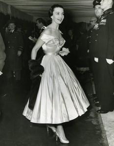 Ballerina Ludmilla Tcherina Leicester Square Odeon London Old Press Photo 1951