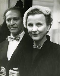 Diana Wynard & Dr Tibor Csato Wedding St Marylebone London Old Press Photo 1951