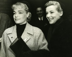 Simone Signoret Danielle Godet London French Film Festival Old Press Photo 1953