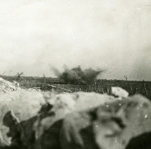 France WWI Torpedo in German Lines Explosion old SIP Photo 1914-1918