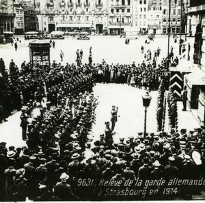 France WWI Strasbourg Alsace German Guards old SIP Photo 1914