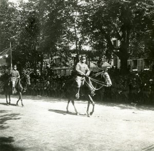 France ? WWI General Pershing on Horse Victory Parade old SIP Photo 1919
