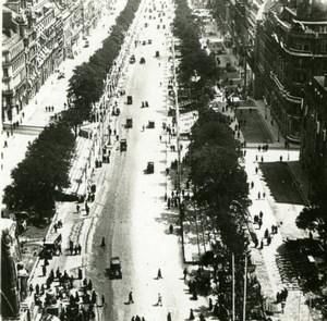 France WWI Avenue des Champs Elysees Victory Fete old SIP Photo 1919