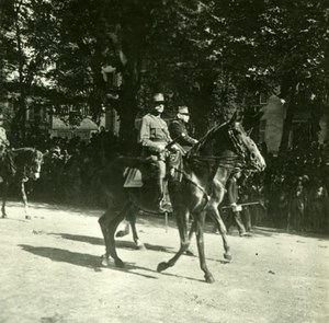 France WWI Victory Fete Marechal Joffre & Foch old SIP Photo 1919