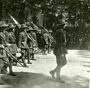 France WWI Victory Fete Australian Troops Parade old SIP Photo 1919