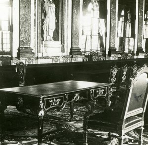 France WWI Versailles Castle Peace Signing Table old SIP Photo 1919