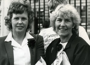 United Kingdom Mining Miners' Strikes Betty Heathfield Anne Scargill Photo 1984