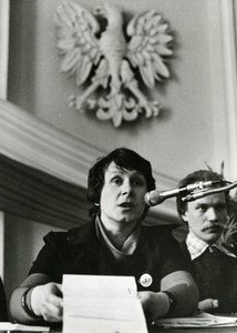 Poland Politics Wife Polish Political Prisoner Leszek Moczulski Old Photo 1981