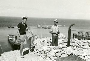 Algeria Oran Mers El Kebir French Military Sailors Maghreb Old Photo 1930's