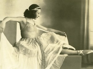 Dance Woman Ballerina Ballet Dancer Arcachon France old Lumiphoto Photo 1930