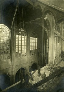 France Paris WWI Eglise Saint-Gervais Church Ruins Old Photo March 1918