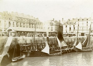 France Saint Malo Fish Market Magasins Reunis old Amateur Photo 1898