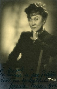 Actress Jeanne Fusier-Gir Signed Autograph Old Paul Koruna Photo 1930's