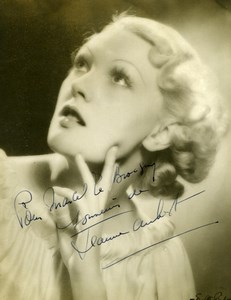 French Actress Jeanne Aubert Cinema Autograph Old Walter Bird Photo 1930