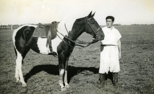 France ? Race Horse Racing Vidalita & Juan Equestrian old Amateur Photo 1960