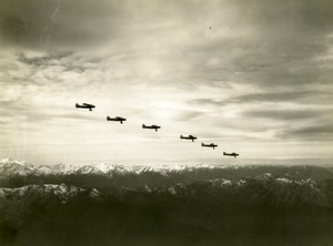 US Army Air Corps 91st Observation Squadron flying over Alaska ? Old photo 1940