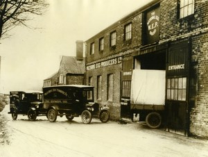 UK Hungerford Wiltshire Egg Producers Trucks Packing Station Old Photo 1930