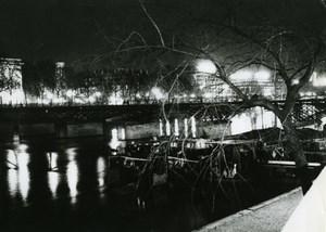 France Paris by Night Hotel des Monnaies Pont des Arts Old Photo 1965