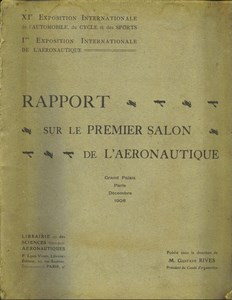 Catalog First Paris Airshow 1908 Gustave Rives Aviation Exposition Aeronautique