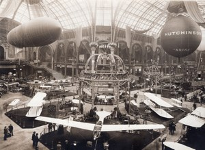 Paris Airshow Grand Palais General View Antoinette Wright Agence Rol Photo 1910